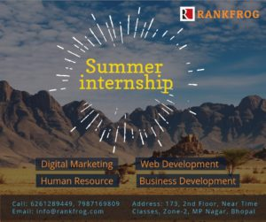 Summer Internship in Bhopal in Web Development, HR and Digital Marketing