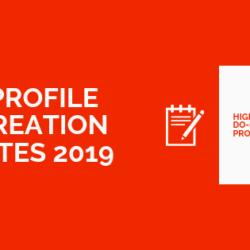High DA Profile Creation Sites 2019