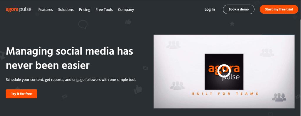 Agora Pulse- Best Social Media Tool