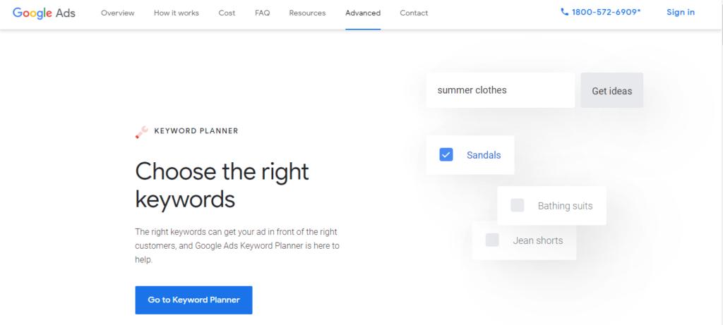Google Keyword Planner - SEO Tool