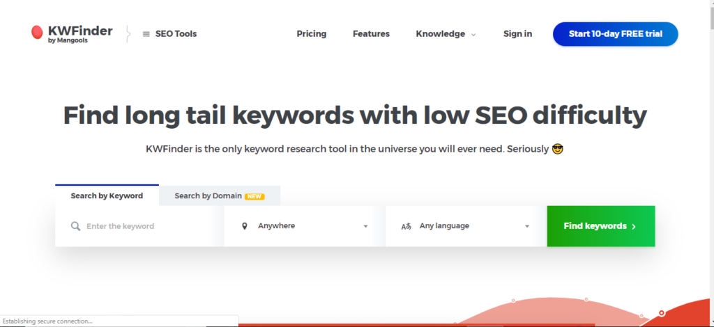 KW Finder - Free Keyword Research Tool
