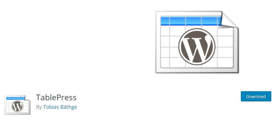 TablePress - Best WordPress Plugin
