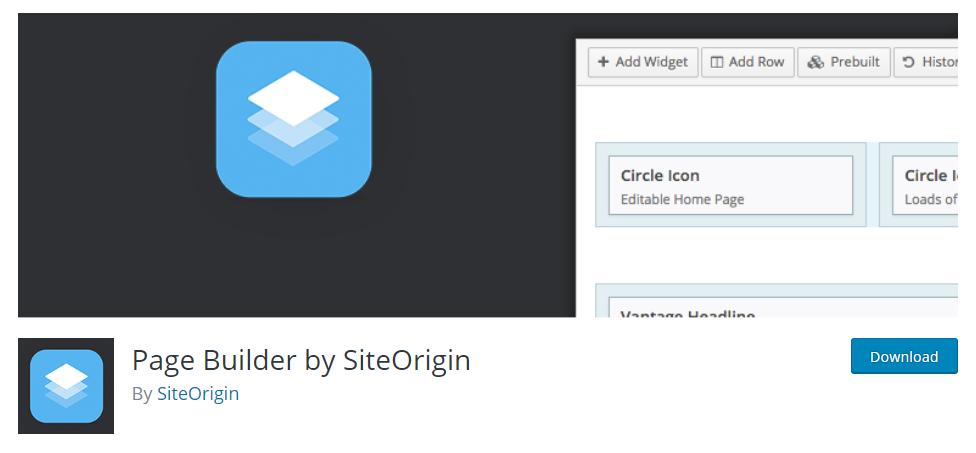 Site Origin - Page Builder Plugin