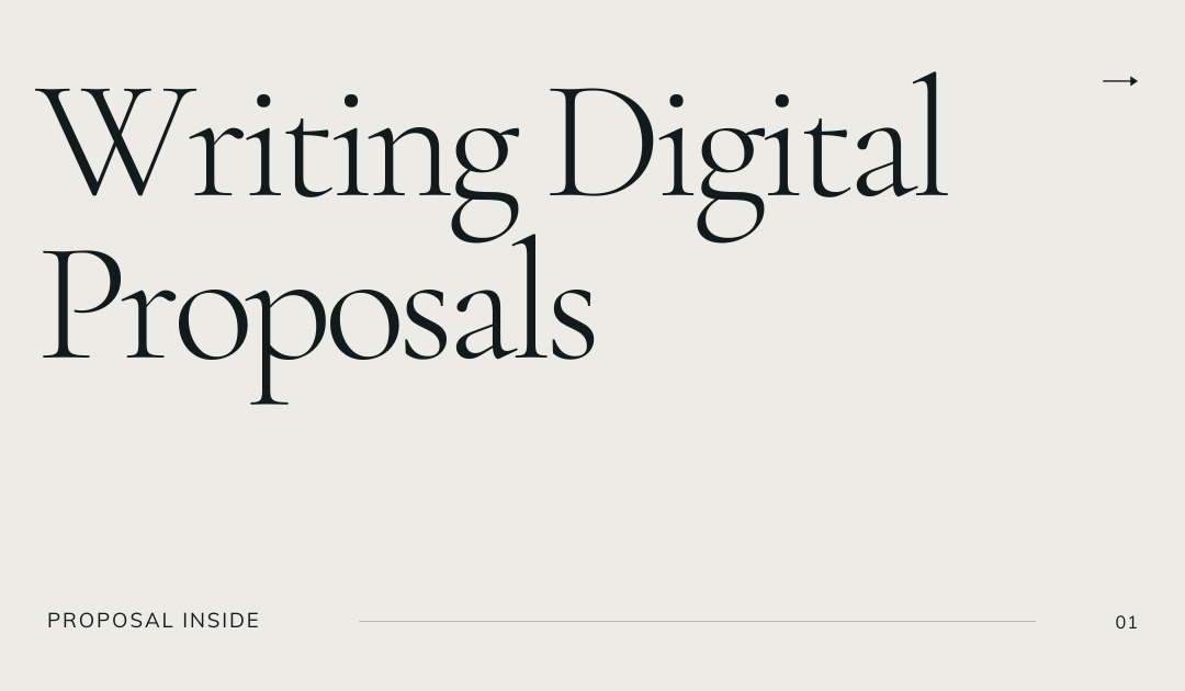 Writing Digital Proposals