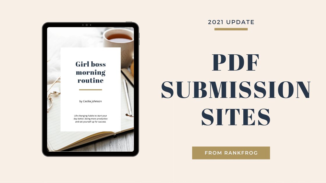 PDF SUBMISSION SITES 2021 update
