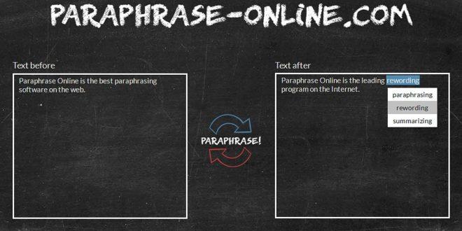Papraphrasing tool